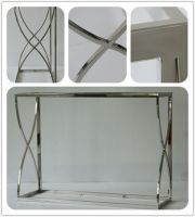 Formaldehyde free Stainless steel Polished Long metal desk for hotel project hotel furniture in low price