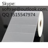 Thermal label paper coa sticker  adhesive bar code printing single