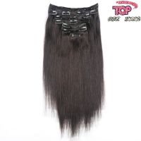 """Hot sale Indian remy hair Clip in on Human Hair Extension 16""""-26"""" 7pcs"""