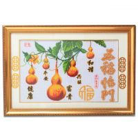 Home decoration & gifts Chinese pure handwork cross stitch