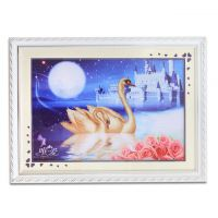 European Style Beautiful Swan Cross Stitch Embroidery Crafts