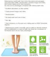 Peakon Eco-Friendly Diatomite Bath Mat Diatomaceous Earth Mat