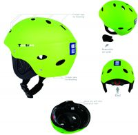Water sports helmet with removable ear protector