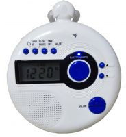 Shower Radio with clock and BT connect music player