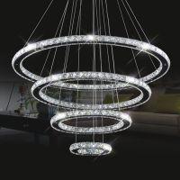 Modern Stainless Steel Crystal Pendant Lights Bedroom Lamps Luster Light Crystal Restaurant Pendant Chandelier Lamp Light Lighting