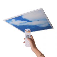 Square thin slim indoor surface 600*600 blue CCT recessed ceiling sky Led panel light