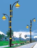 Ip65 220V double light heads led garden lamp light energy saving
