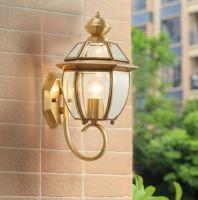 Copper exterior LED Garden Lighting Wall Lamp Light