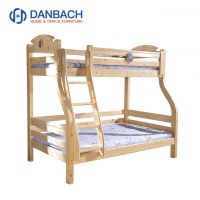 Factory Price Cheap Wooden Cot Natural Children Twin Bunk Bed For Bed Room