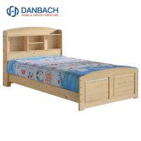 Natural Wooden Layer Kids Bed Children Bedroom Furniture Solid Wood Cot