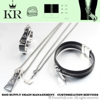 Stainless Steel Zipper Series Jewelry set with Earring Ring Bracelet