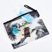 Custom Zipper Fashion Clear PVC Waterproof Women Cosmetic Bag