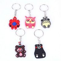 Gifts OEM Silicone Soft PVC Keyring Rubber 3D Keychain Key Chain
