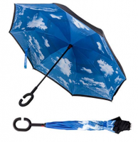 Gifts Custom Straight Reverse Safety Winproof Umbrella