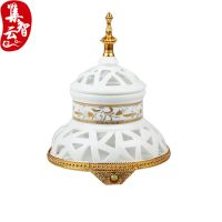 Arabic Mosque Hollowed-out Hand-painted Ceramic Incense Burner