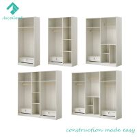 Foshan manufacturer low price MDF wooden bedroom wardrobe
