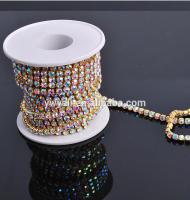 SS16 Crystal AB Rhinestone Cup Chain Wholesale