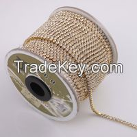 Wholesale Rhinestone Cup Chain for garment accessories