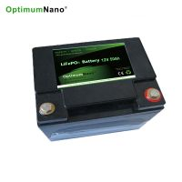 Optimumnano sealed 12v 50ah li-iron battery for solar energy storage system