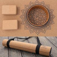 Organic Cork Rubber Mandala Yoga mat