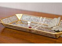 Vintage Style Jewelry Glass Tray, Jewelry Organizer | Artisanal Creations