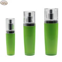 Series green color acrylic bottle with silver pump