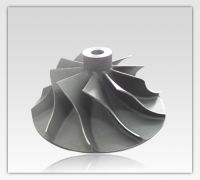 custom machining precision investment casting titanium compressor wheel