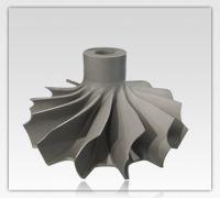 custom machining precision investment casting titanium turbine