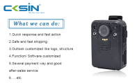 CKSIN 4G body worn video camera with WiFi & GPS for CCTV security law enforcement