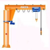 50 kg-5000 kg Pillar-Mounted Slewing Jib crane fixed type design drawing portable mobile crane price