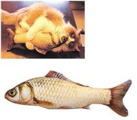 Fish Shape Doll Interactive Pets Pillow Chew Bite Supplies