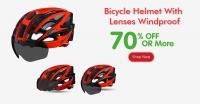 Bicycle Helmet With Lenses Windproof