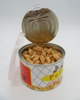 Canned roasted and salted peanuts kernels