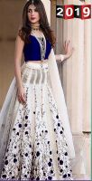 Beautiful Blue and White Indian embroidery suit for Her