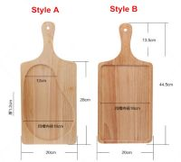 Rectangle Wooden Tray With Handle for Western Restaurant/Hotel/Home