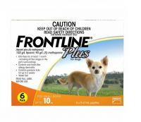 Frontline Plus Flea and Tick Control for Dogs and Puppies 8 weeks or older, 45 to 88 lbs, 6-Doses