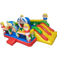 Hot Sale Inflatable Doraemon Kids Small Jumping Bouncer Castle Slide Combo for sale