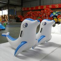 Inflatable Water ToysInflatable dolphin water toys PVC plastic high quality water sport factory wholesale
