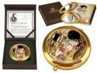Mirror - G. Klimt- The Kiss Brown Background(Box Lux)