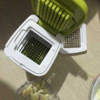 Handle Green Garlic Cube Garlic Press,Slice the garlic