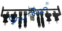 Easy Installing retractable seat belts and bars combo for Club Car, Yam, EZGO Golf Cart