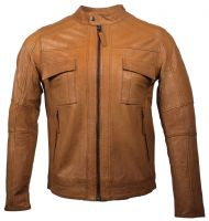 Hot sale real leather men beautiful fashion jacket