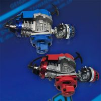 Air cooled pull starting Pocket Bike Engine Assembly Red/Blue 49/50cc
