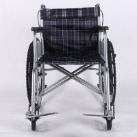 A01Cheapest  Steel Folding wheelchair hospital manual wheelchair for disabled