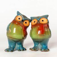 china ceramic home decorative Cartoon Chickabiddy ceramic owls candle holder