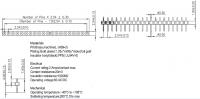 2.54 Machine Pin header - Round pin H1.9 L7.9 Pin top 0.5 Straight Single row - No.Y03610-1S-DIP-1.9
