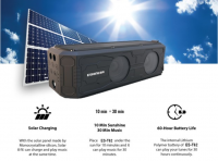 Solar Powered USB Wireless Bluetooth LED Speaker Flashlight Outdoor Camping Lamp