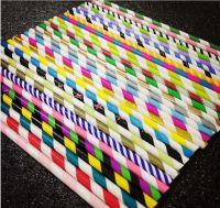 Large Stripe Paper Straws