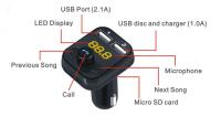 12V Car radio adapter Bluetooth FM Transmitter