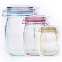 Mason jar shape stand up pouch ziplock bag